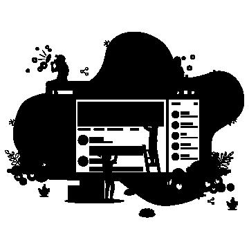 modern website design bw